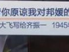 请你原谅我对邦媛的感情(张大飞写给齐振一  1945年)